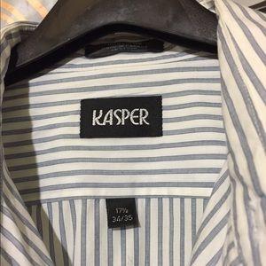 Kasper Shirts - Kasper Dress Shirt Sz  (17.5) 34/35